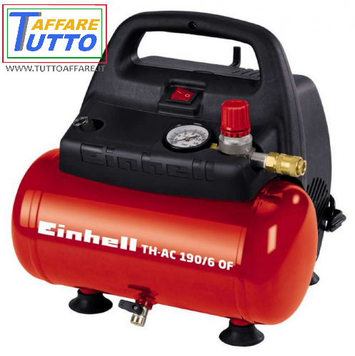Compressore Aria Portatile 6L Einhell TH-AC 190/6 OF