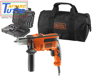 TRAPANO Black&Decker con KIT 32 accessori e borsone